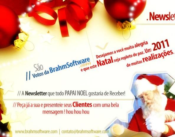 Criação e distribuição de newsletter de fim de ano