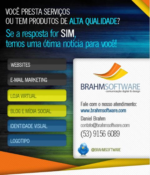 BrahmSoftware faz criação de sites em Pelotas para o Brasil e o mundo!
