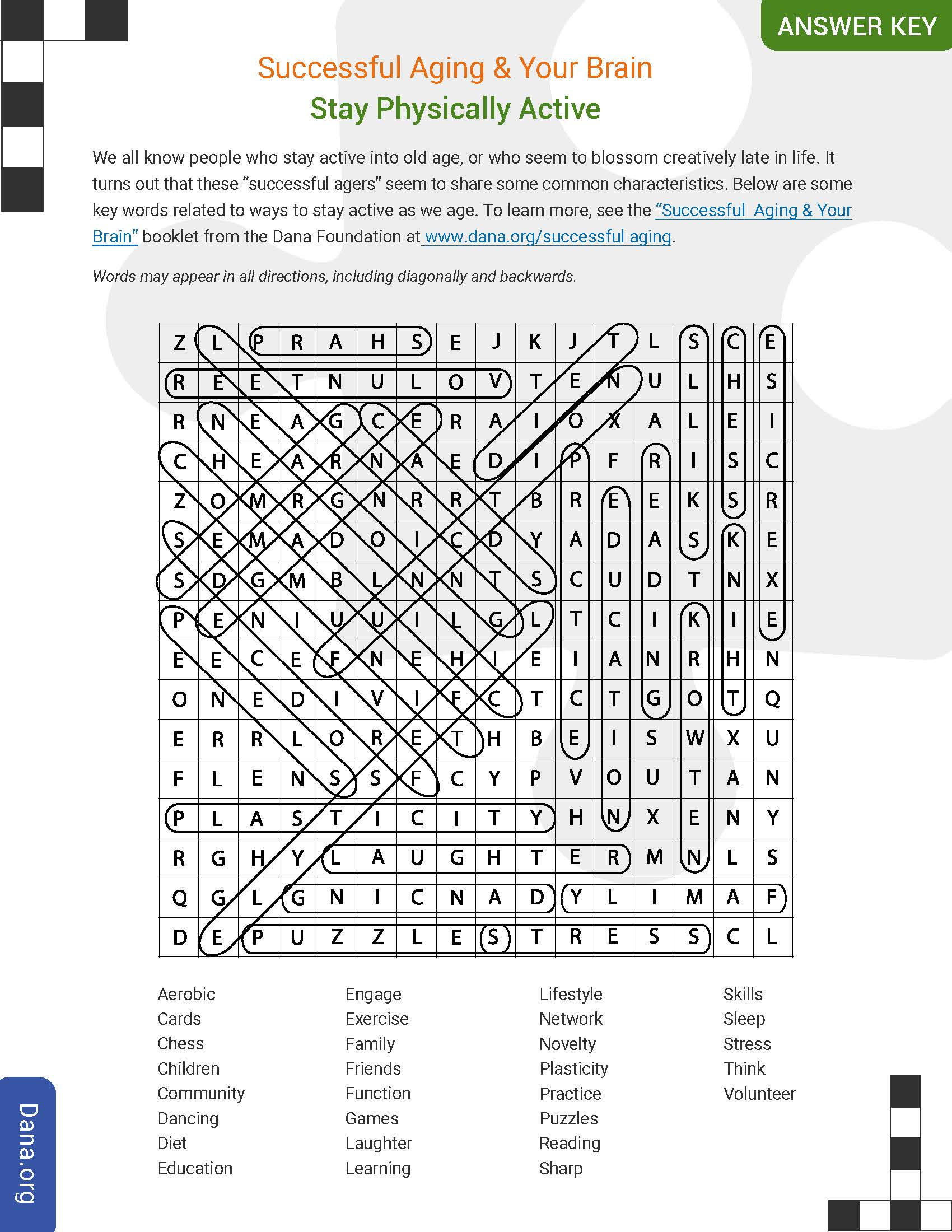 History Of Medicine Word Search Answer Key