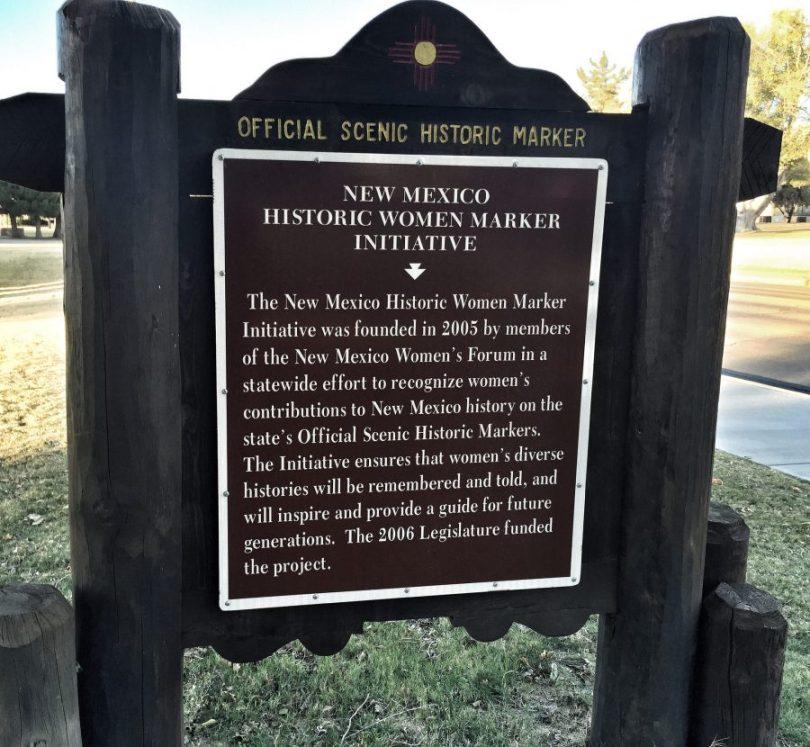 New Mexico Historic Women Marker