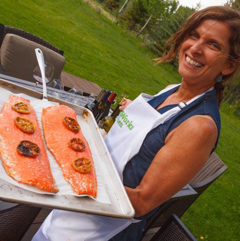 Paula Wolfert's Oven-Steamed Salmon