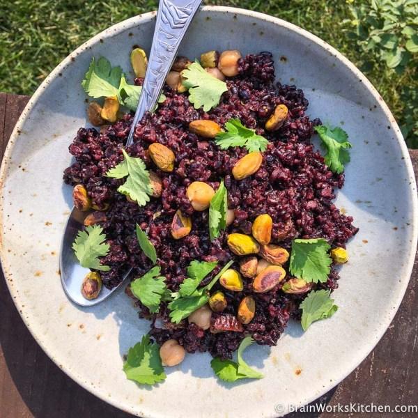 Black-forbidden-rice-salad|brainworkskitchen.com