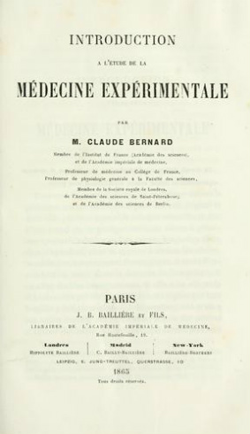 An Introduction the Study Experimental Medicine Original