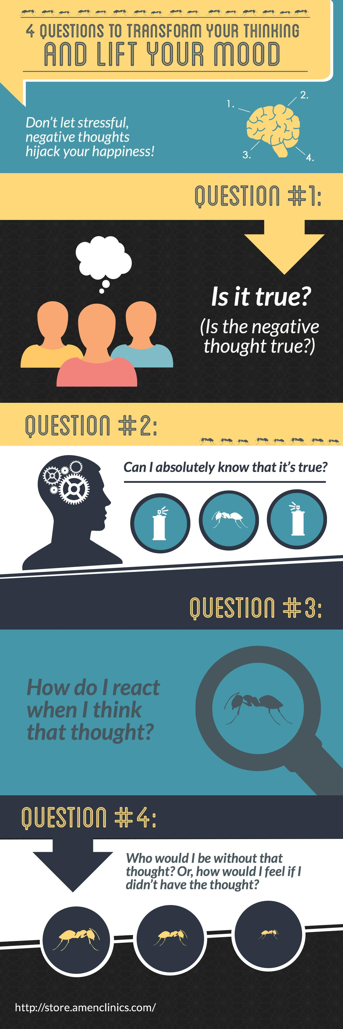 Questions To Get Rid Of Automatic Negative Thoughts