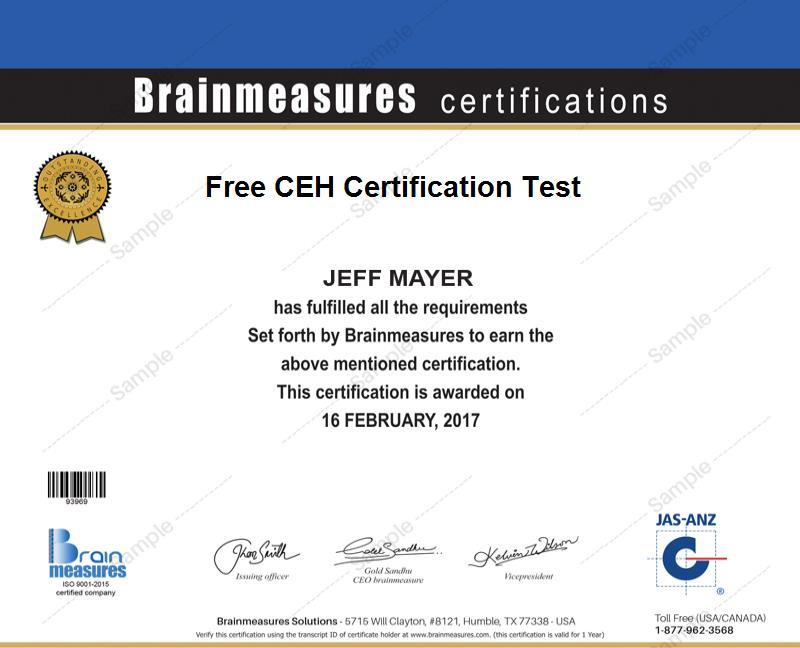 Free Ceh Certification I Practice Course L Practice Test