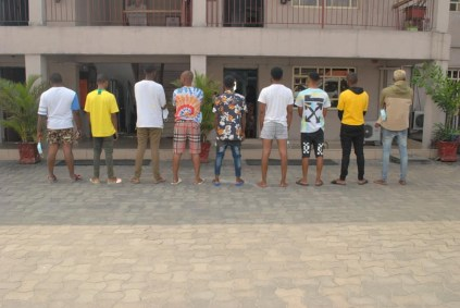 9 Suspected Yahoo Boys Arrested In Rivers State