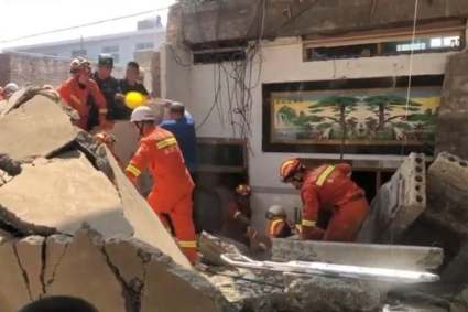 More Than 17 Confirmed Dead In A Restaurant Collapse In China