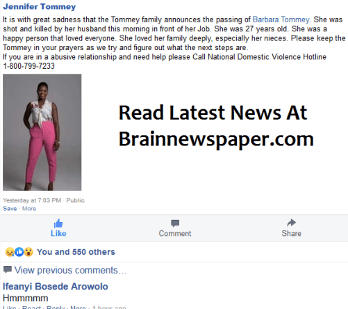 Jennifer Tommey Mourn Her Sister Who Was Shot Dead By Her Ghanaian Pastor Husband In U.S.