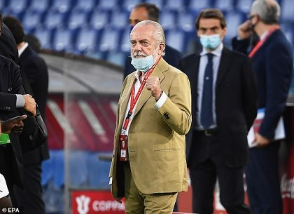 President Of Napoli Aurelio De Laurentiis Tests Positive For Coronavirus After Attending A Meeting