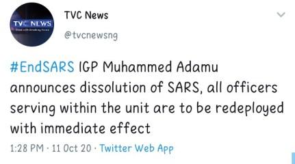 IGP Adamu Dissolves Special Anti-Robbery Squad, SARS