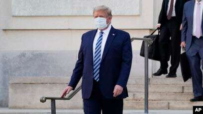 President Trump Returns To White House After COVID-19 Treatment At Hospital
