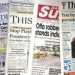 Newspaper Headlines For Today, Thursday Oct 8