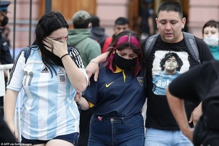 Photos From Diego Maradona Burial In Argentina