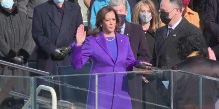 Kamala Harris Takes Oath Of Office