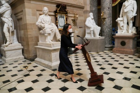 Lectern Belonging To Nancy Pelosi Which Was Looted During The US Capitol Riot Has Been Returned
