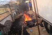 Mob sets suspected motorcycle thief ablaze in Benue