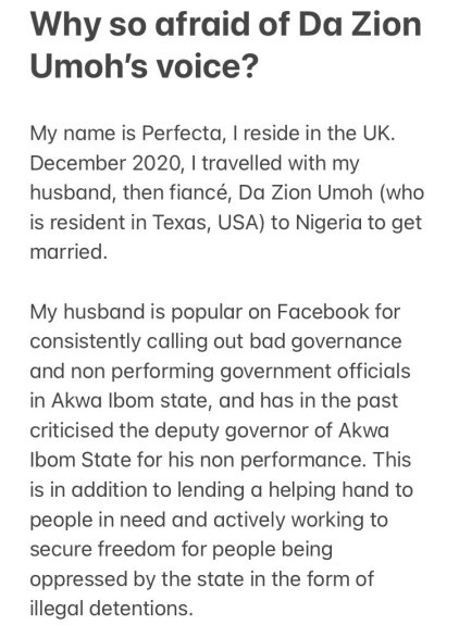 Akwa Ibom Govt Arrested, Holding My Husband For Criticism - Perfecta Bassey
