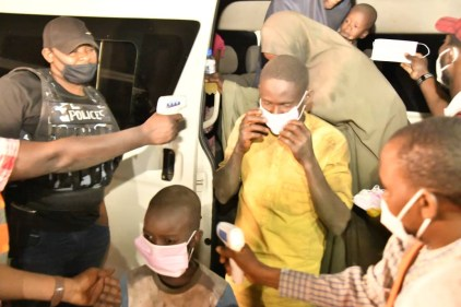 Niger State Gov Receives Rescued Abducted Travelers