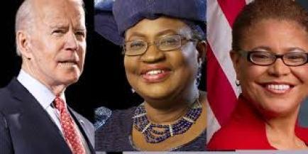 Read What Joe Biden Was Asked To Do To Okonjo Iweala By US Reps Member, Karen Bass