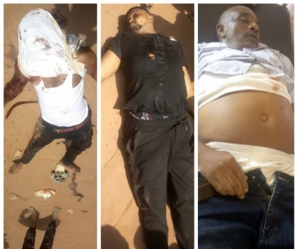 See Graphic Photo As 3 Is Killed After Unknown Gunmen Opened Fire At A Crowd In Anambra