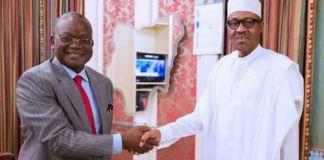 President Buhari Meets Ortom In Aso Rock