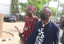 The Moment Native Doctor Followed Omoyele Sowore To Court In Abuja