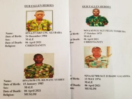 12 Military Officers Killed By Bandits In Benue Laid To Rest