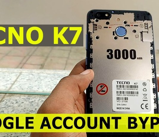 How to Bypass Google Account (FRP) On Tecno K7