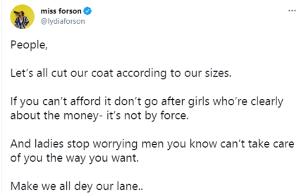 If You Can't Afford It, Don't Go After Girls Who're Out For The Money - Actress Lydia Forson