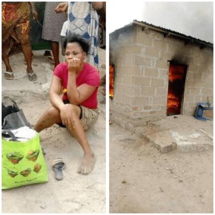 Lady Sets Her Boyfriend's House Ablaze Over Misunderstanding In Benue