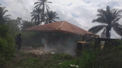 Operation Akpakwu Arrests Kidnappers, Demolishes Houses And Shrine In Cross River