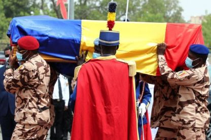 Photos From The Burial Of Chad President, Idriss Déby