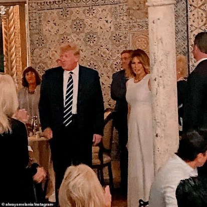 See Photos As Melania Trump Makes Second Public Appearance With Her Husband Donald Trump At Mar-a-Lago