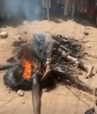 Female Bandit, 2 Others Killed, Set Ablaze By Angry Youths After Failed Attack In Sokoto Community
