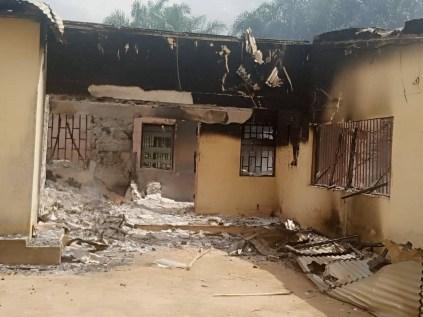 INEC Office Set Ablaze By Unknown Hoodlums In Akwa Ibom