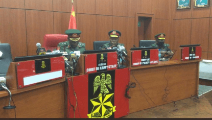 New Chief Of Army Staff, Major General Farouk Yahaya Assumes Office