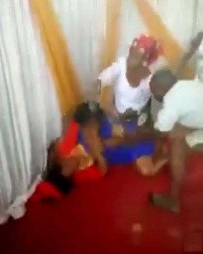 'Pastor's Wife And Female Member' Fight Dirty Inside Church In Umuahia