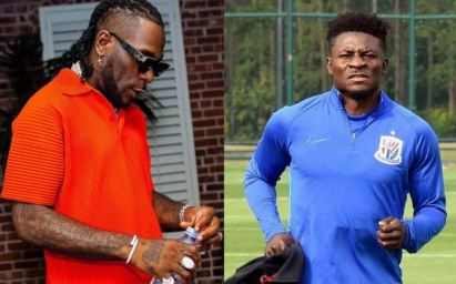 Burna Boy Reportedly Beaten To Stupor By Obafemi Martins' Boys At Lagos Club