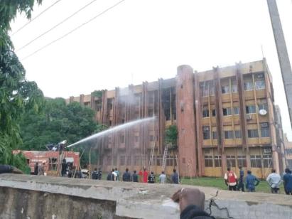 Fire Breaks Out In Federal Secretariat In Delta State