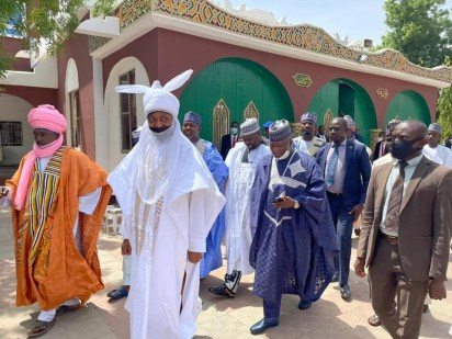 Govs, Ministers, APC Officials Arrive Emir Of Kano's Palace To Formalise Plans For Yusuf Buhari's Wedding