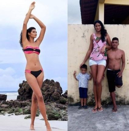 Meet Brazil's Tallest Woman, Her Husband Is Just 5ft