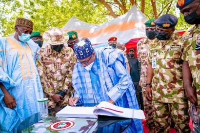 More Photos Of President Buhari's Visit To Borno