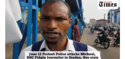 Police Officer Slaps BBC Journalist, Michael, Seizes His Phone In Oyo