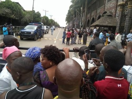 See Photos As Members, Residents Mourn Prophe TB Joshua's Demise