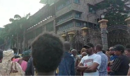 See Photos As Sunday Service Is Suspended In SCOAN Over TB Joshua's Death, As Members Weep