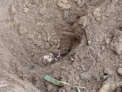 See Shocking Photos As Pastor Kills Wife, Buries Corpse In Shallow Grave In Akwa Ibom