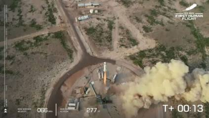 Watch The Moment Jeff Bezos, Blue Origin Rocket Touch Down After Historic Spaceflight