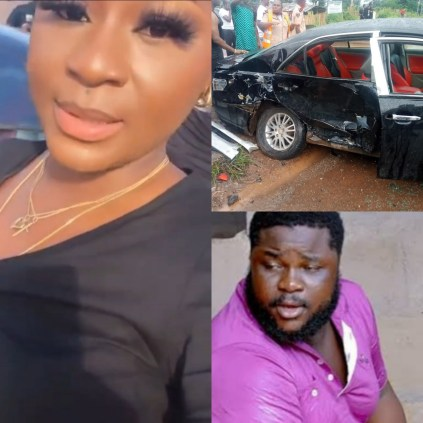 Actress Destiny Etiko, Her Colleagues Survive Car Accident While Returning From Stanley Okoro's Burial