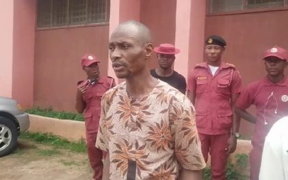 See Photo As Amotekun Rescues Boy From Suspected Ritualist In Ondo