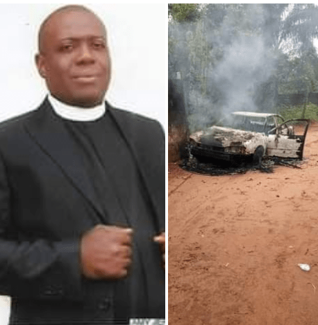 Anglican Priest Butchered To Death, His Car Burnt In Imo